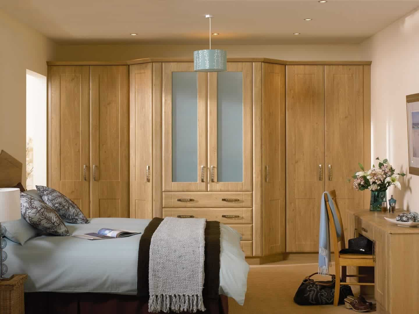 natural wood bedroom