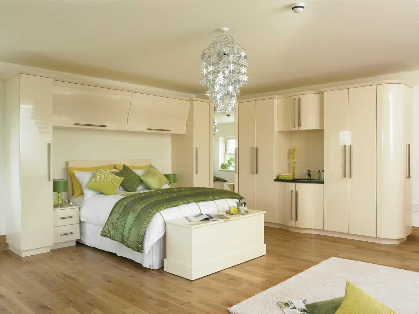 Goscote bedroom high gloss cream