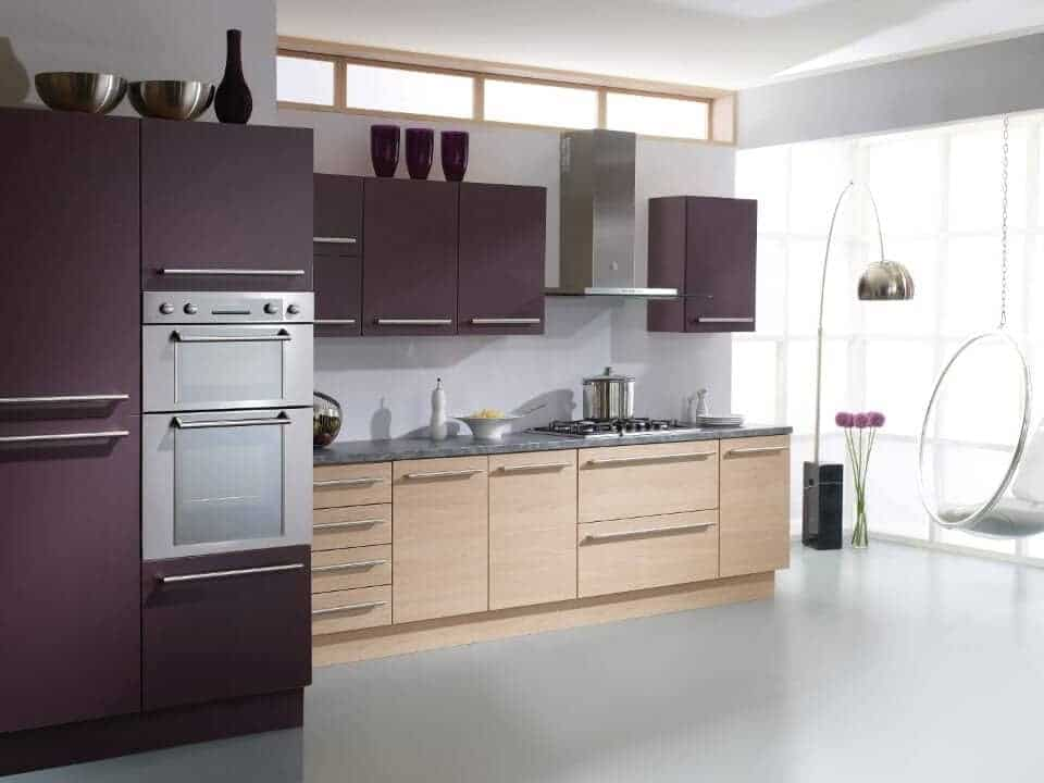 Kitchen aubergine chestnut