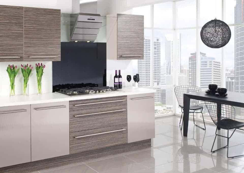 Kitchen grey and beige