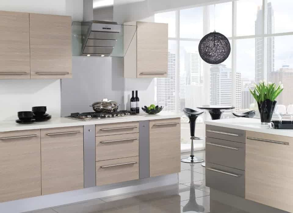 Avola kitchen white and stone grey