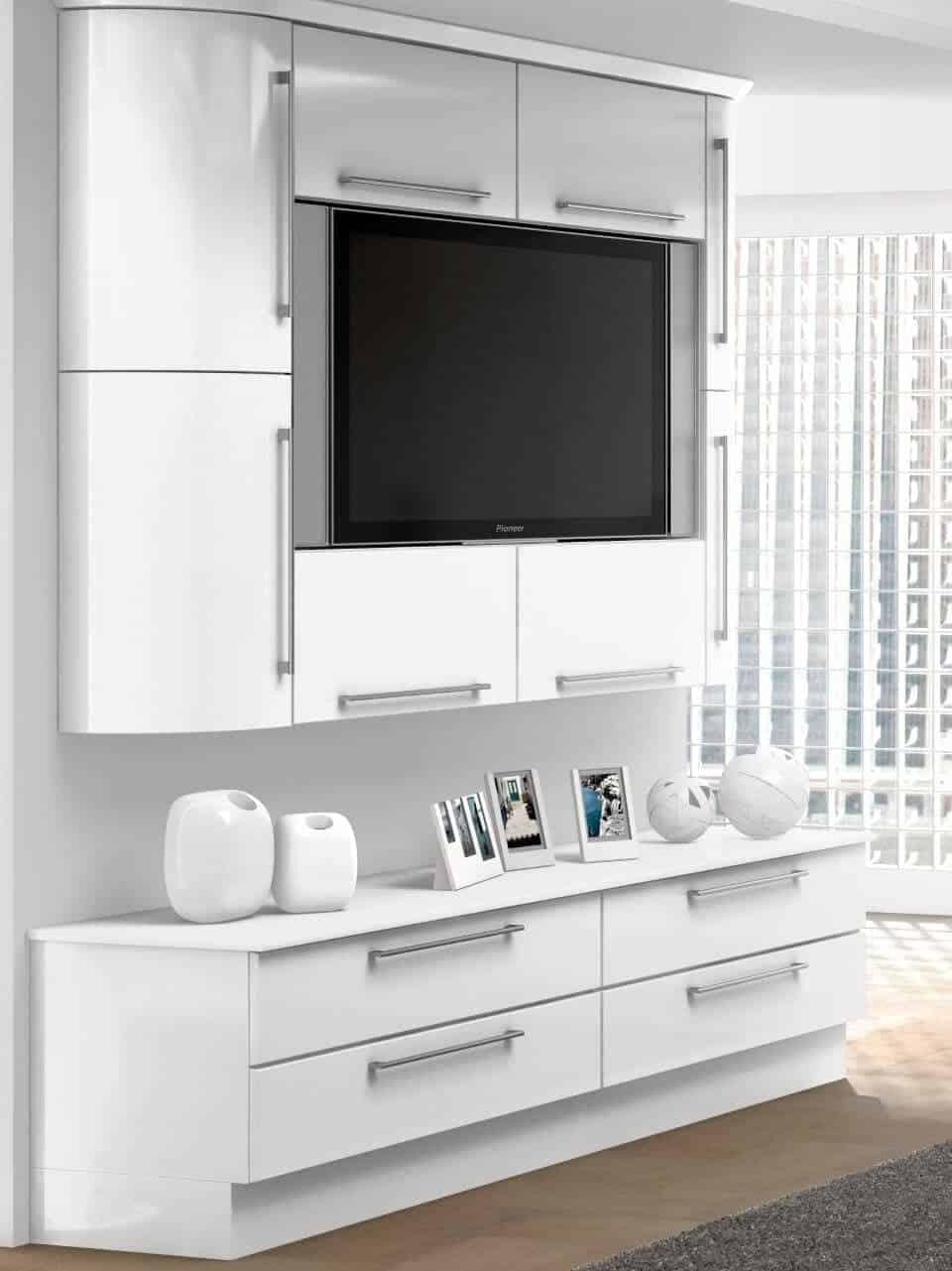 Goscote bedroom high gloss white