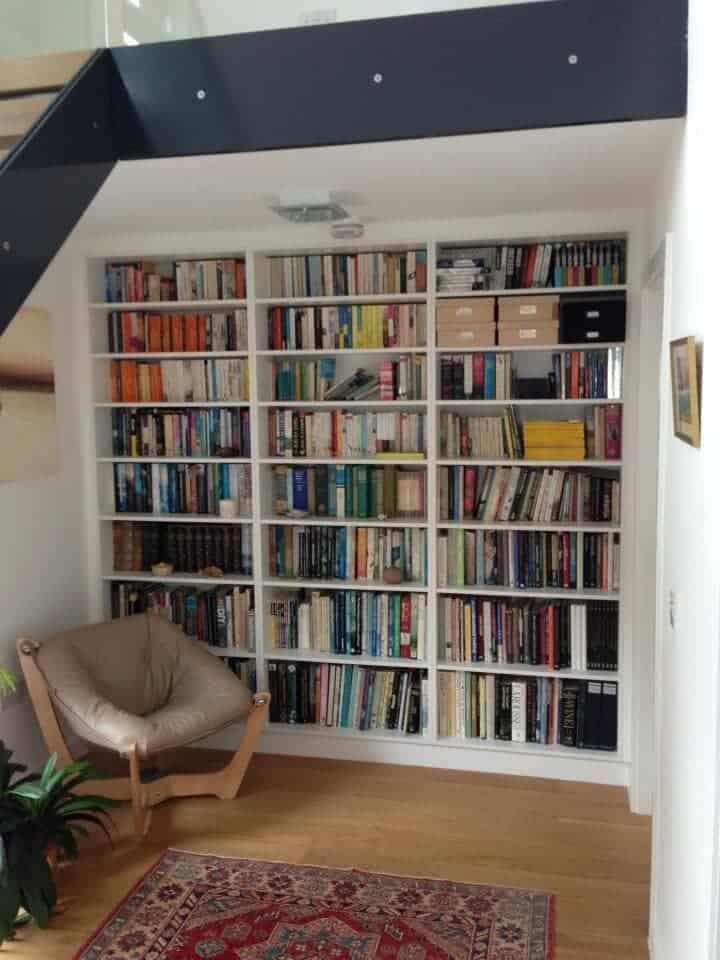 Fitted bookshelf units